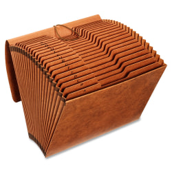Globe-Weis® A-Z Accordion File, Letter Size, Brown
