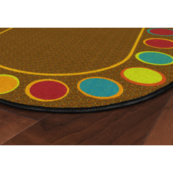 """Flagship Carpets Sitting Spots Rug, 6' x 8' 4"""", Oval, Muted"""