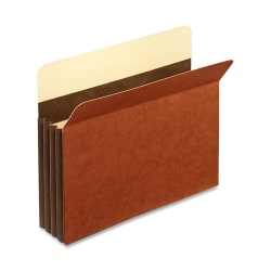 """Pendaflex® File Pockets, Heavy-Duty, Accordion, Legal Size, 3 1/2"""" Expansion, Brown, Box Of 25"""
