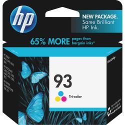 HP 93 Original Ink Cartridge - Inkjet - 220 Pages - Color - 1 Each