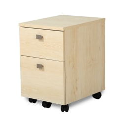 """South Shore Interface 18-1/4""""D Vertical 2-Drawer Mobile File Cabinet, Natural Maple"""