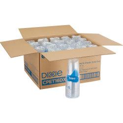 Dixie Clear Plastic Cold Cups - 16 fl oz - 500 / Carton - Clear - PETE Plastic - Soda, Iced Coffee, Sample, Breakroom, Restaurant, Lobby, Coffee Shop
