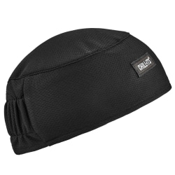 Ergodyne Chill-Its® 6630 Terry Cloth Skull Caps, Black, Pack Of 6 Caps