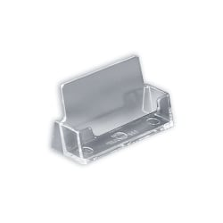 """Azar Displays Business And Gift Card Holders, Horizontal, 13""""H x 7""""W x 5""""D, Clear, Pack Of 10"""