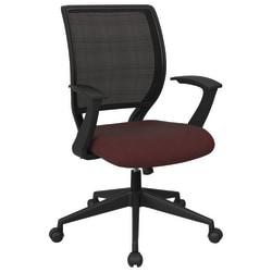Office Star™ Work Smart Mesh Task Chair, Burgundy/Black