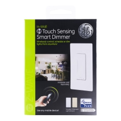 GE Z-Wave Plus In-Wall Touch Sensing Smart Dimmer, Almond/White, 500S