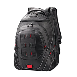 Samsonite® Tectonic PerfectFit Laptop Backpack, Black/Red