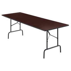 "Realspace® Folding Table, 29""H x 96""W x 30""D, Walnut"
