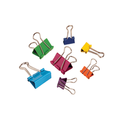Office Depot® Brand Fashion Binder Clips, Assorted Sizes, Assorted Colors, Pack Of 65