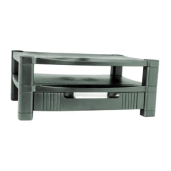 Kantek 2-Level Monitor Stand with Drawer - CRT Display Type Supported - Black