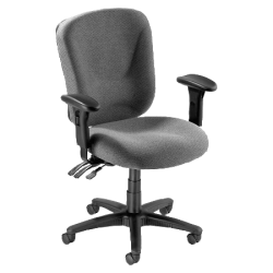 Lorell® Accord Series Mid-Back Fabric Task Chair, Gray