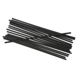 "Boardwalk Unwrapped Stir Straws, 5 1/4"", Black, 1,000 Straws Per Pack, Case Of 10 Packs"