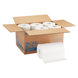 """SofPull® by GP PRO 1-Ply Paper Towels, 9"""" x 400', 40% Recycled, White, Case Of 6 Rolls"""