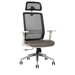 Sinfonia Sing High-Back Task Chair, White/Gray