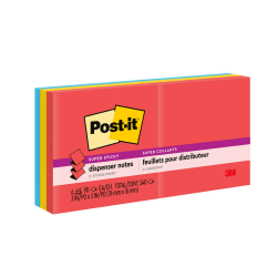 "Post-it® Super Sticky Pop-up Notes, 3"" x 3"", Marrakesh, Pack Of 6 Pads"
