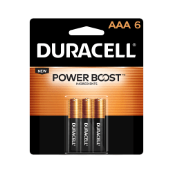 Duracell® Coppertop AAA Alkaline Batteries, Pack Of 6