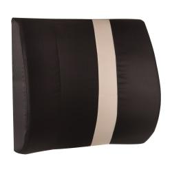 """HealthSmart® Vivi Relax-a-Bac™ Premium Lumbar Back Support Cushion Pillow, 3""""H x 14""""W x 13""""D, Black/Tan Stripe"""