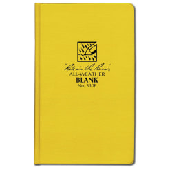 """Rite In The Rain All Weather Bound Notebooks, 4-3/8"""" x 7-1/4"""", 160 Pages (80 Sheets), Yellow, Pack Of 6 Notebooks"""