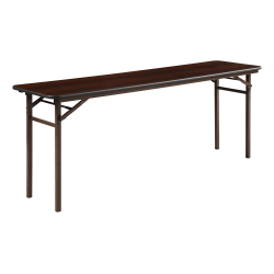 Lorell® Laminate Folding Banquet Table, 6'W, Mahogany