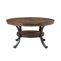 """Powell Vinessa Round Coffee Table, 19"""" x 36"""", Rustic Umber/Brown"""