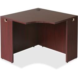 "Lorell® Essentials Series Corner Desk, 36""W, Mahogany"