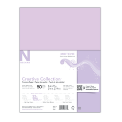 """Neenah® Creative Collection™ Midtone Specialty Paper, Letter Size (8 1/2"""" x 11""""), FSC® Certified, Purple, Pack Of 50 Sheets"""