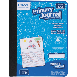 """Mead® K-2 Classroom Primary Journal, 7-1/2"""" x 9-4/5"""", 100 Sheets, Assorted"""