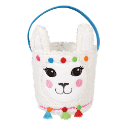 "Amscan Plush Llama Easter Baskets, 7"" x 6"", Set Of 2 Baskets"