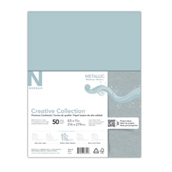 "Creative Collection™ Metallic Specialty Card Stock, Letter Size (8 1/2"" x 11""), Chalice Silver, Pack Of 50 Sheets"