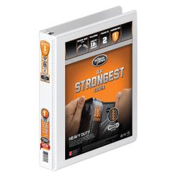 "Wilson Jones® Heavy-Duty View 3-Ring Binder, 1"" Round Rings, 32% Recycled, White"