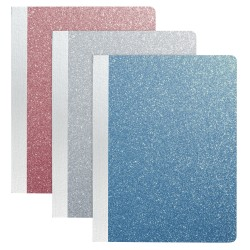 """Office Depot® Brand Glitter Composition Book, 7 1/2"""" x 9 3/4"""", Wide Ruled, Assorted Colors (No Color Choice), 80 Sheets"""