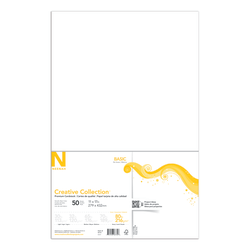 "Neenah® Creative Collection™ Paper, 80 Lb, Ledger Size (11"" x 17""), FSC® Certified, Solar White, Pack Of 50 Sheets"