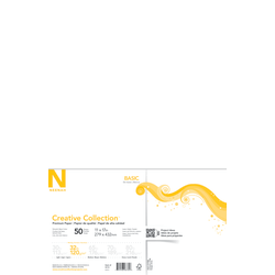 """Neenah® Creative Collection™ Paper, Ledger Size (11"""" x 17""""), FSC® Certified, Solar White, Pack Of 50 Sheets"""
