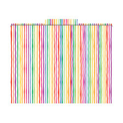 "Barker Creek Tab File Folders, 8 1/2"" x 11"", Letter Size, Stripes, Pack Of 12"