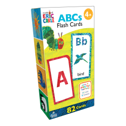 Carson-Dellosa World Of Eric Carle Early Learning Flash Cards, ABCs, Set Of 82 Flash Cards