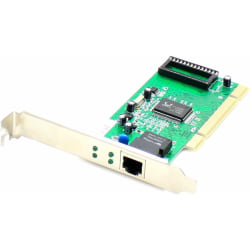 AddOn 10/100/1000Mbs Single Open RJ-45 Port 100m Copper PCI Network Interface Card - 100% compatible and guaranteed to work