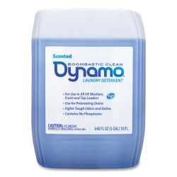Ajax® Dynamo Liquid Laundry Detergent, Fresh Scent, 5 Gallons, White