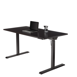 "Realspace® Magellan Performance 60""W Electric Height-Adjustable Standing Desk, Espresso"