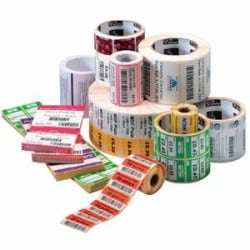 """Zebra Label Paper 4 x 6in Direct Thermal Zebra Z-Perform 1000D Value 0.75 in core - 4"""" Width x 6"""" Length - Permanent Adhesive - Direct Thermal - White - Paper, Acrylic - 105 / Roll - 36 / Roll"""
