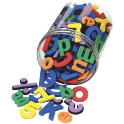 """Chenille Kraft WonderFoam Magnetic Alphabet Letters And Numbers, 1 - 1 1/2"""", Assorted Colors, Set Of 105"""