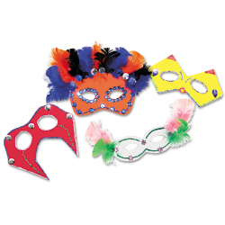 Chenille Kraft Creativity Street Mask Activity Kit, Set Of 24