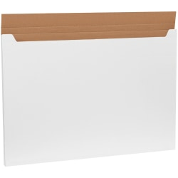 """Office Depot® Brand Jumbo Fold-Over Mailers, 38""""H x 26""""W x 1""""D, White, Pack Of 20"""