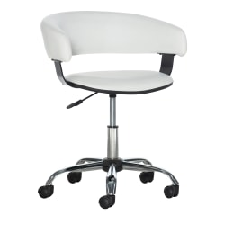 Powell® Home Fashions Low-Back Gas-Lift Task Chair, White