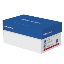 """Office Depot® Brand Multi-Use Paper, Letter Size (8-1/2"""" x 11""""), 94 (U.S.) Brightness, 20 Lb, Ream Of 500 Sheets, Case Of 8 Reams"""