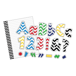 Barker Creek 305-Piece Letter Pop-Out/Paper Set, Chevron Nautical