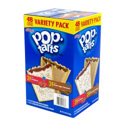 POPTARTS Strawberry & Brown Sugar Cinnamon 2-Pack Variety, 24 Count