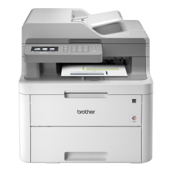 Brother MFC-L3710CW Compact Wireless Digital Color Laser All-in-One Printer, Scanner, Copier, Fax