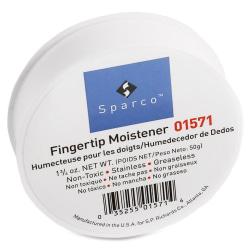 Sparco Fingertip Moistener - Pink - Odorless, Greaseless, Stainingless