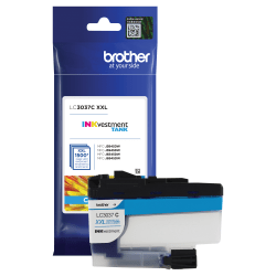 Brother Genuine LC3037C Super High-Yield Return Program Cyan INKvestment Tank Ink Cartridge