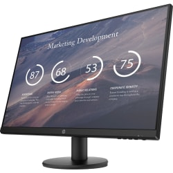 "HP P27v G4 - LED monitor - 27"" - 1920 x 1080 Full HD (1080p) @ 60 Hz - IPS - 300 cd/m² - 1000:1 - 5 ms - HDMI, VGA - black"